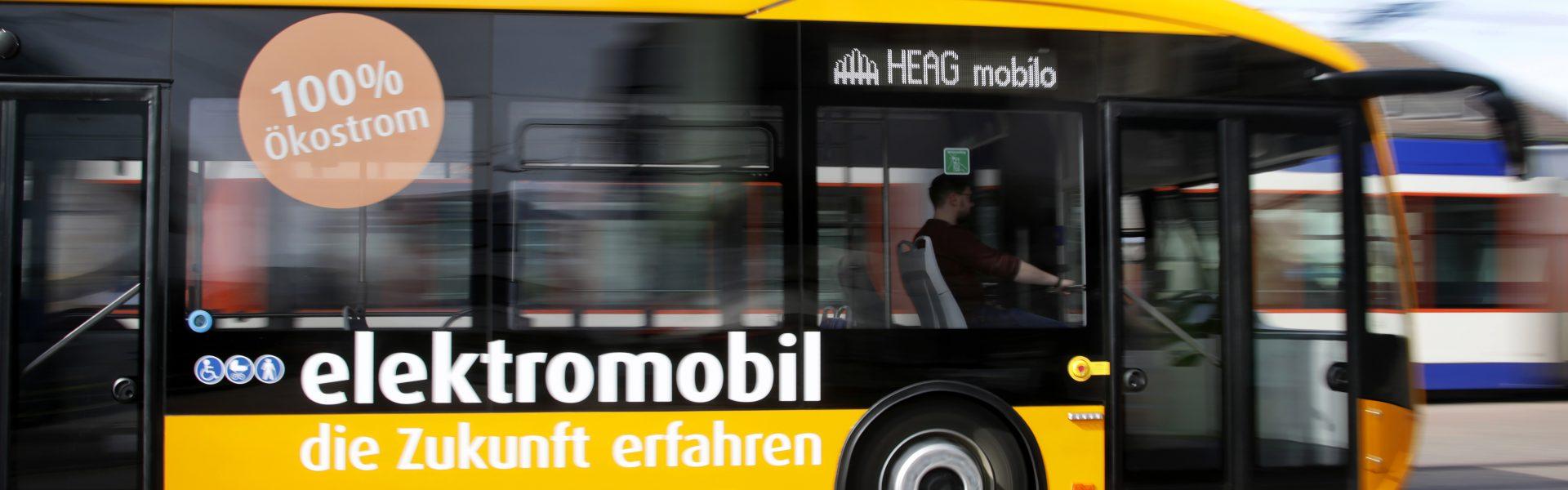Header Bild HEAG mobilo nimmt ersten Elektrobus für Darmstadt in Betrieb