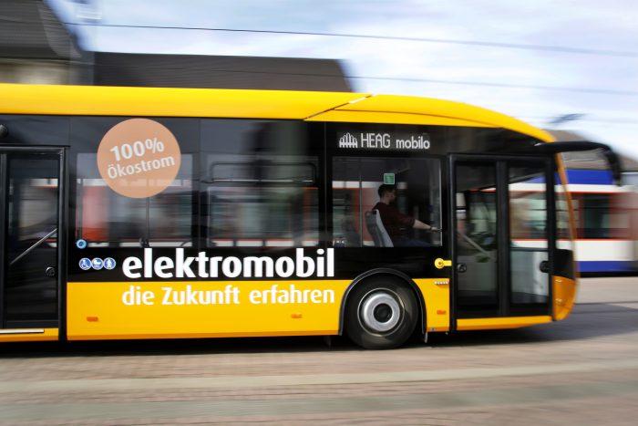 HEAG mobilo nimmt ersten Elektrobus für Darmstadt in Betrieb