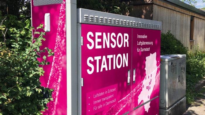 Digitalstadt Darmstadt und Deutsche Telekom AG bauen Deutschlands erstes digitales Messnetz für Luftschadstoffe