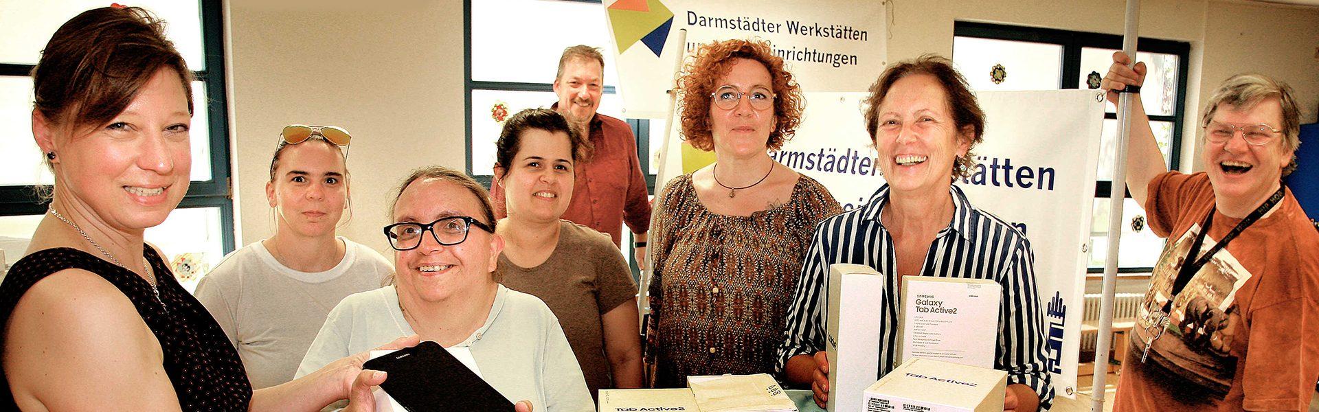 Header Bild Digitalstadt Darmstadt rüstet Darmstädter Werkstätten & Wohneinrichtungen mit Tablets aus