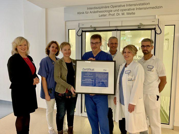 Alle drei Intensivstationen des Klinikums erhalten Zertifizierung als angehörigenfreundliche Intensivstation