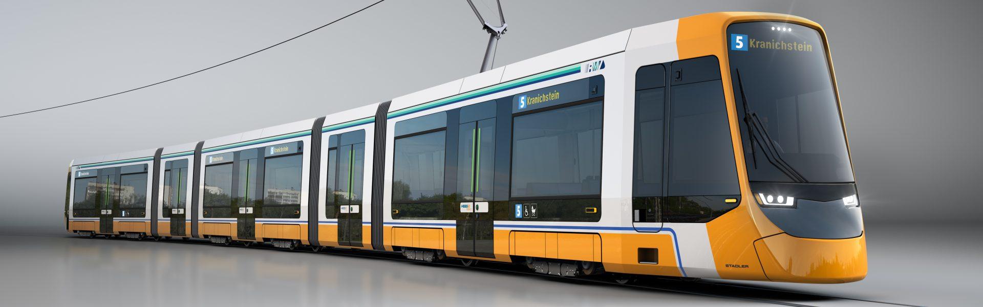 Header Bild HEAG mobilo und Stadler unterzeichnen Vertrag für 14 neue Straßenbahnen