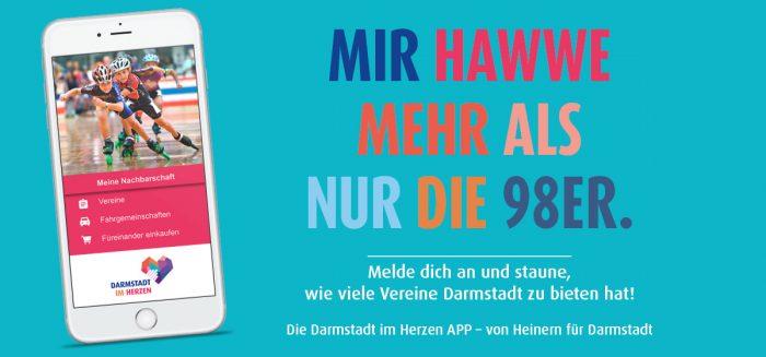 Darmstadt im Herzen APP Heiner Nachbarschaft HEAG Vereine