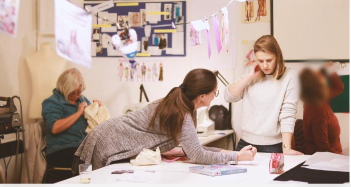 Darmstadt im Herzen zu Gast bei der Mode-Privat-Schule von Taina Pfeil