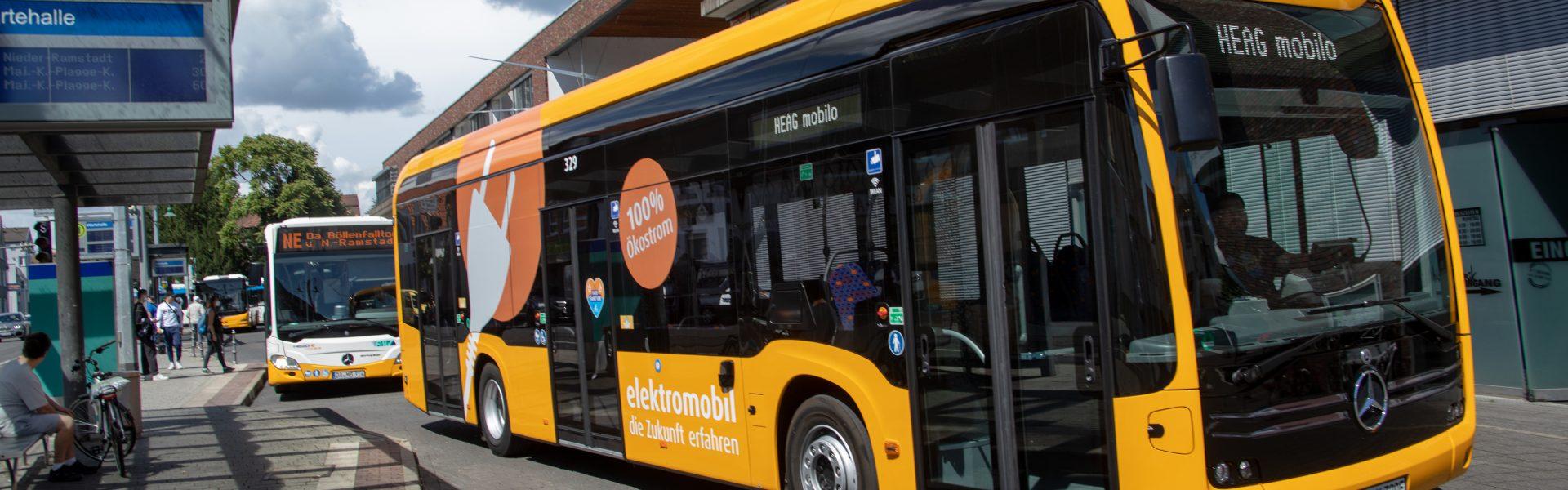 Header Bild HEAG mobilo nimmt sechs Elektrobusse in Betrieb