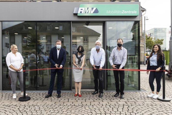 RMV-Mobilitätszentrale in Darmstadt im neuen Design
