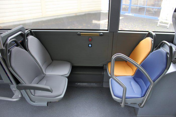 HEAG mobiBus testet neue Sitzbezüge in Bussen