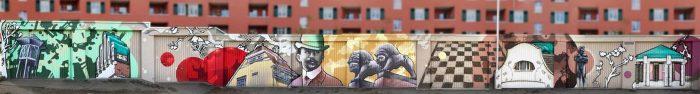 Garagenanlagen im Rhön- und Spessartring künstlerisch aufgewertet