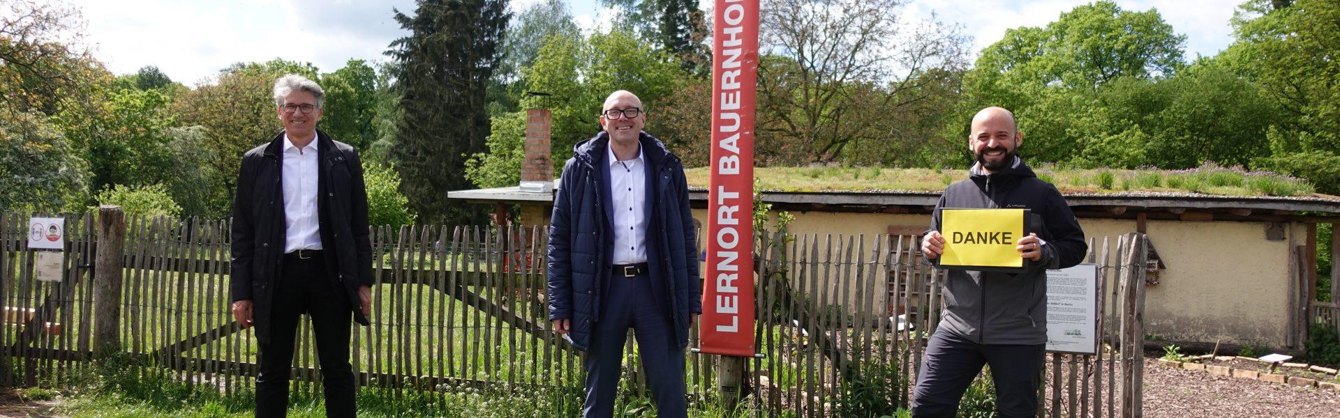 Header Bild HEAG unterstützt Projekt Lernort Bauernhof auf dem Hofgut Oberfeld