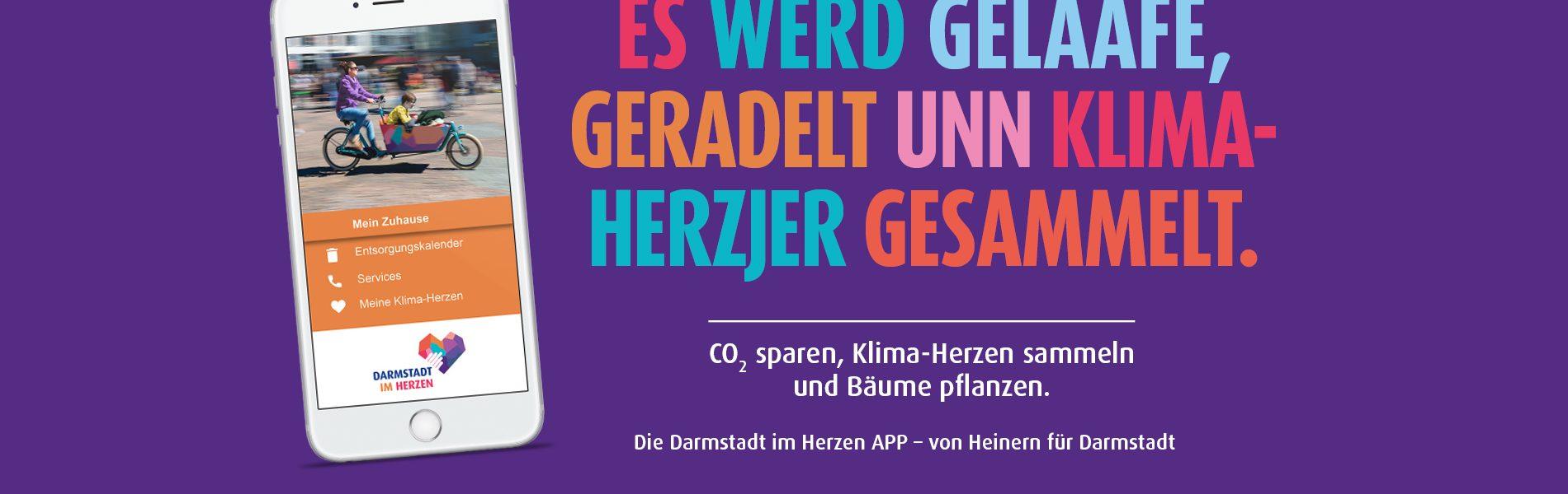 Header Bild Klimaherzen in der Darmstadt im Herzen APP