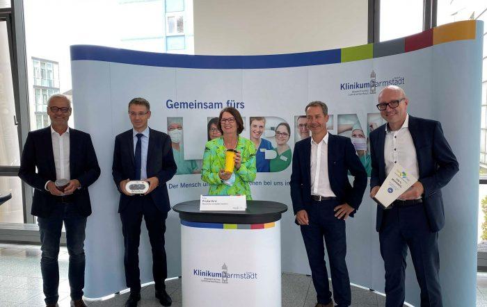 Einweihung des ersten FairCup Rücknahmeautomat in Darmstadt