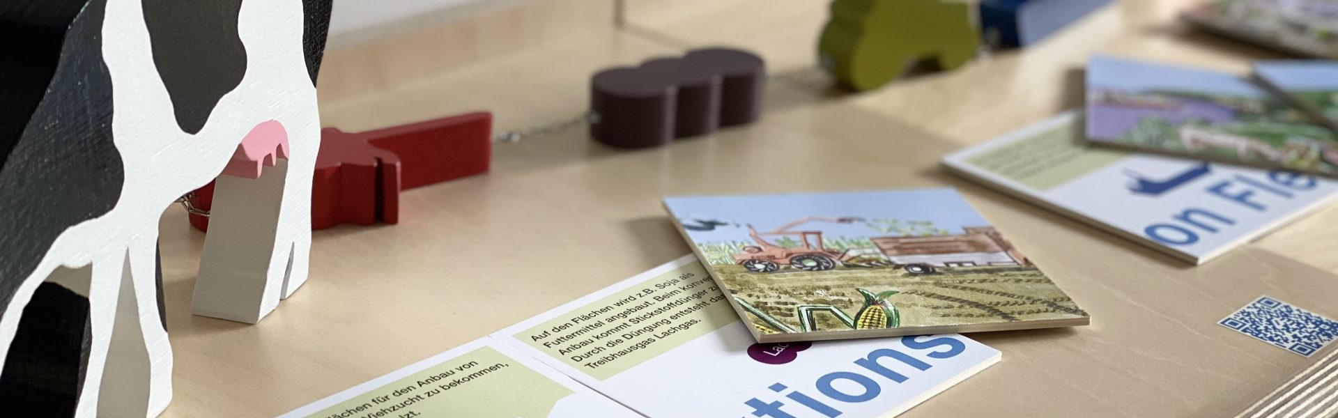 """Header Bild Interaktive Ausstellung """"Klimagourmet. Genießen und das Klima schützen"""""""